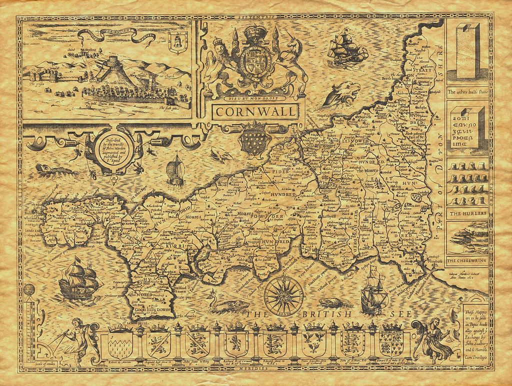 Map of Cornwall - 1614